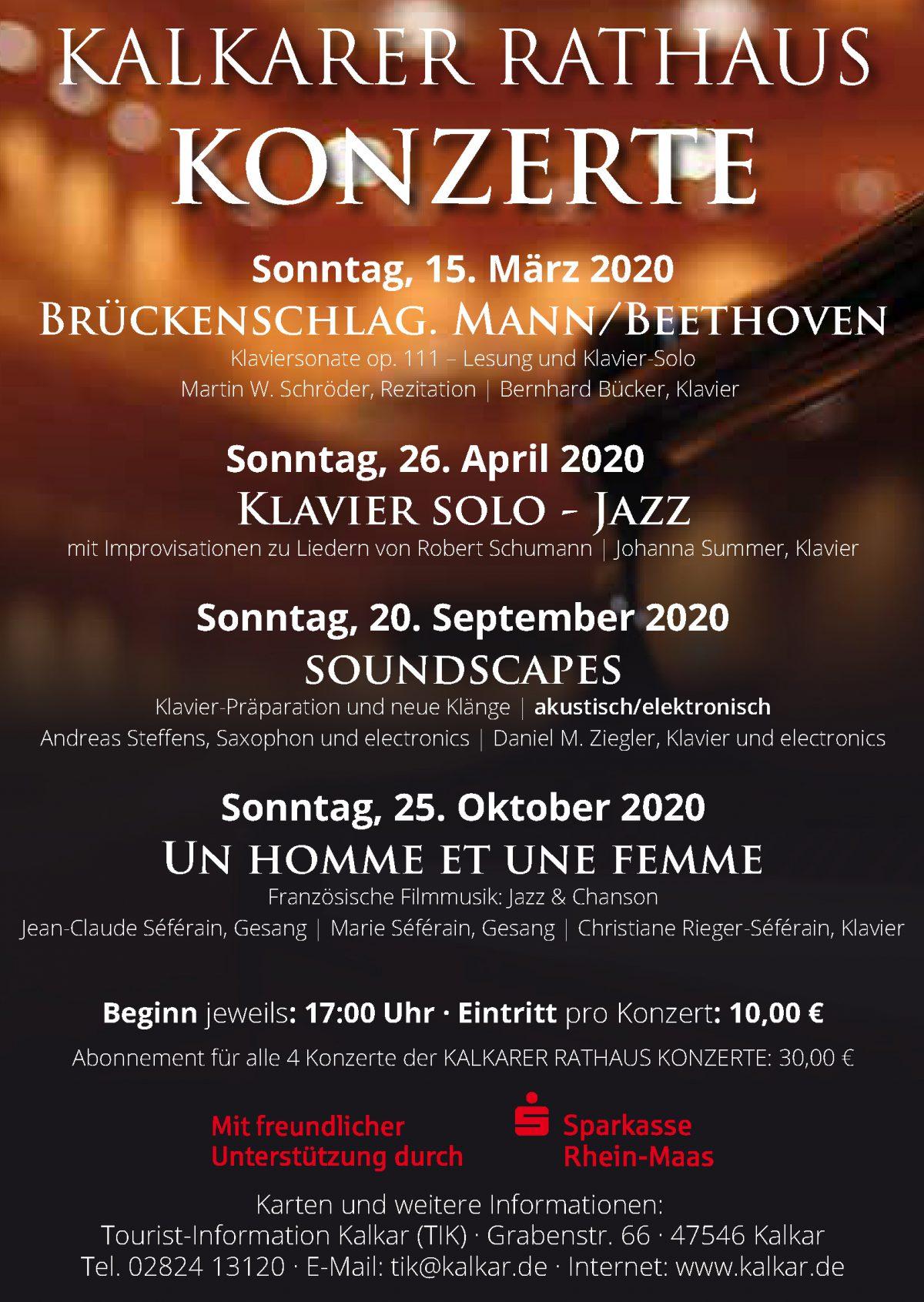 Steffens/Ziegler 20.09.2020, Rathauskonzerte Kalkar, 17:00 Uhr